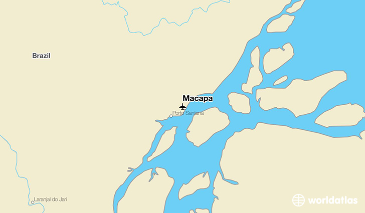 Macapa location on a map