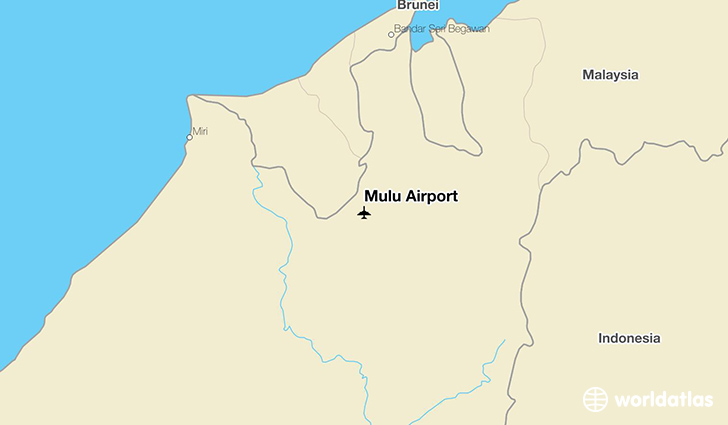 Mulu Airport location on a map