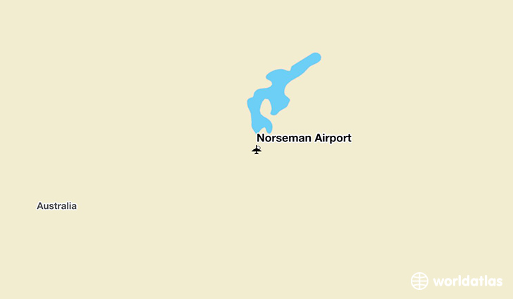 Norseman Airport location on a map