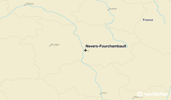 Nevers-Fourchambault location on a map