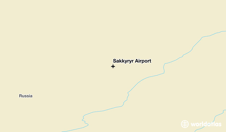 Sakkyryr Airport location on a map
