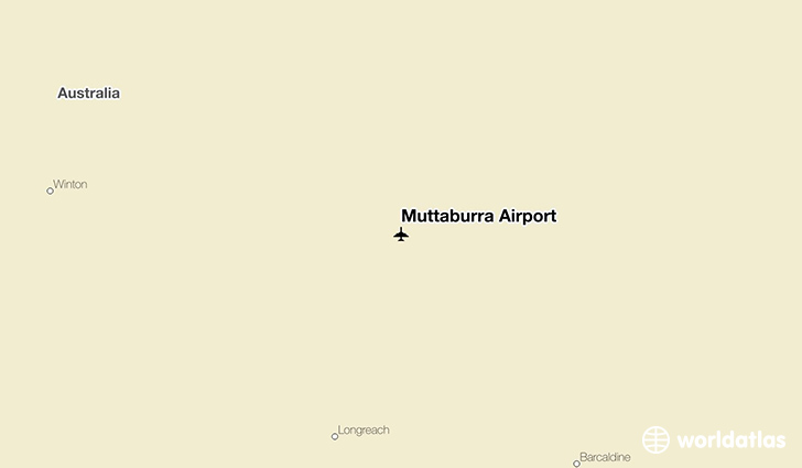 Muttaburra Airport location on a map