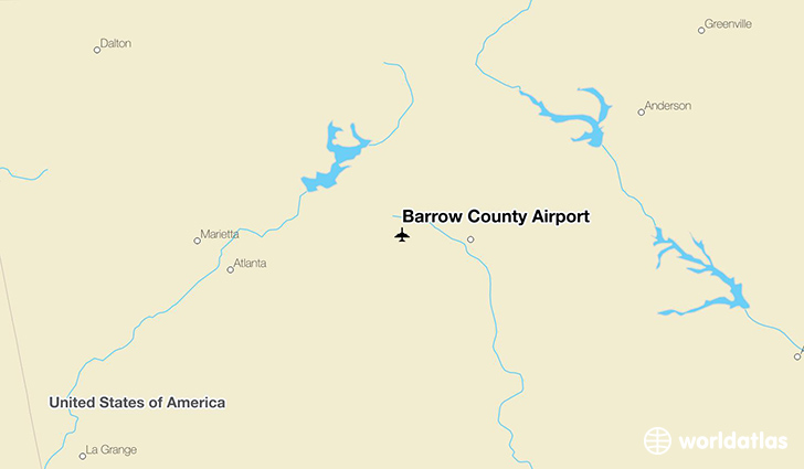 Barrow County Airport location on a map