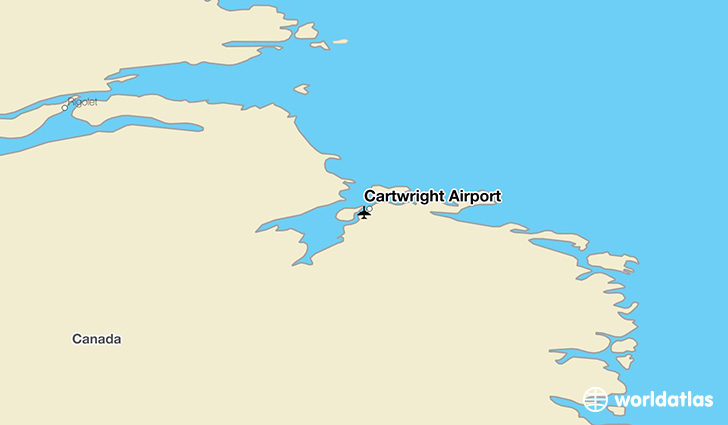 Cartwright Airport location on a map