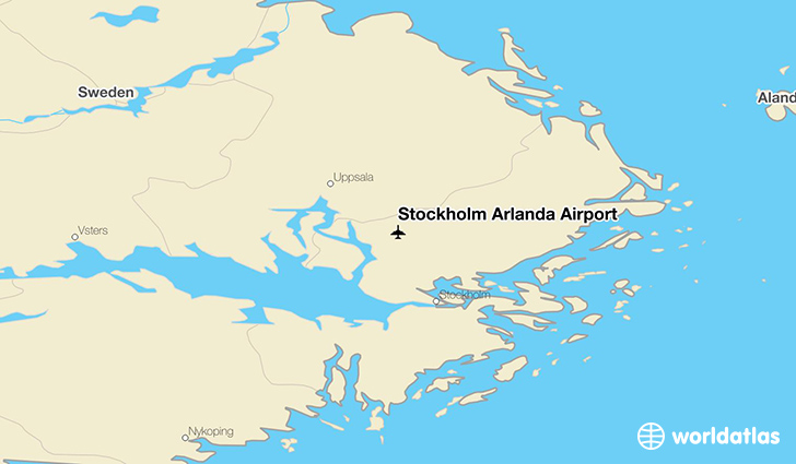 Stockholm Arlanda Airport location on a map