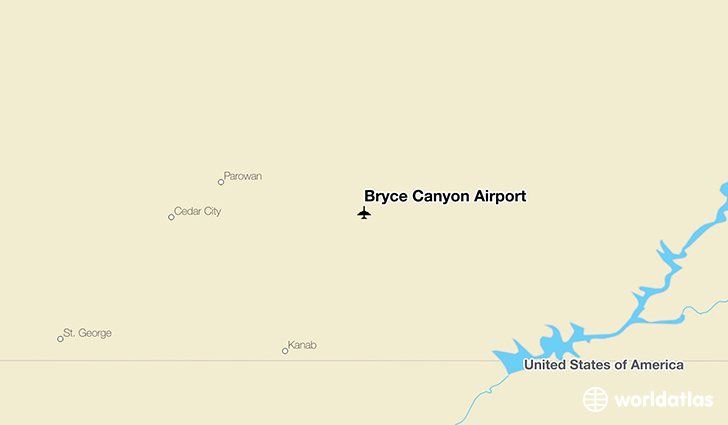 Bryce Canyon Airport location on a map