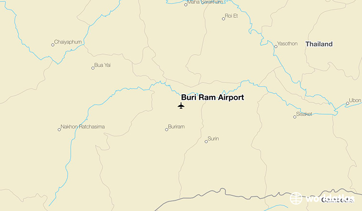 Buri Ram Airport location on a map