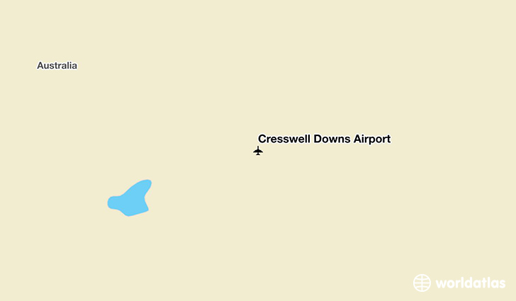 Cresswell Downs Airport location on a map