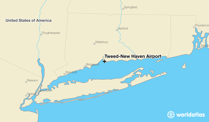 Tweed-New Haven Airport location on a map