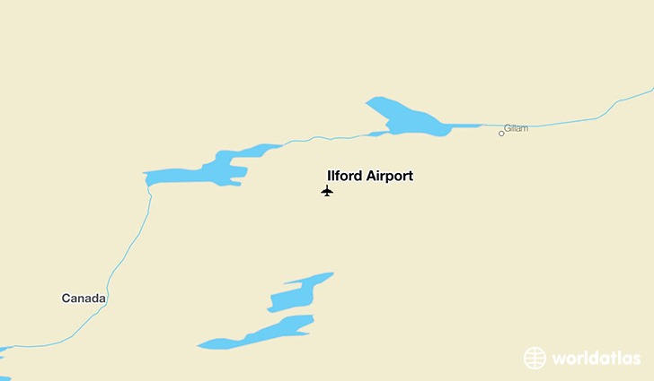 Ilford Airport location on a map