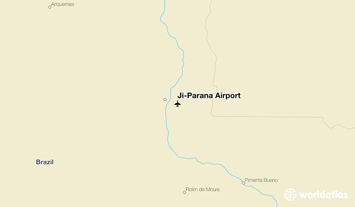 Ji-Paraná Airport location on a map
