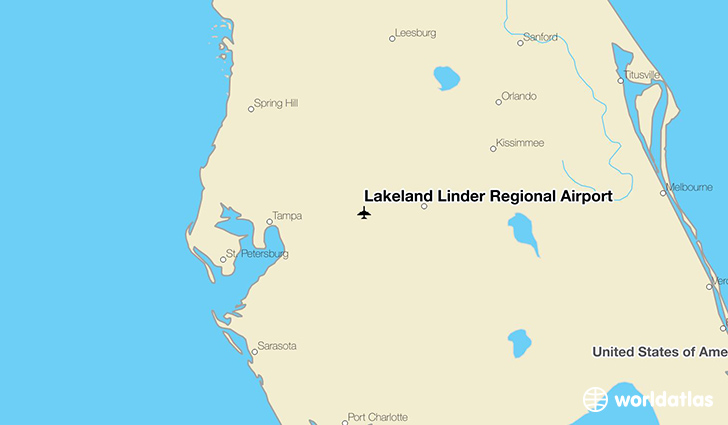 Lakeland Linder Regional Airport location on a map