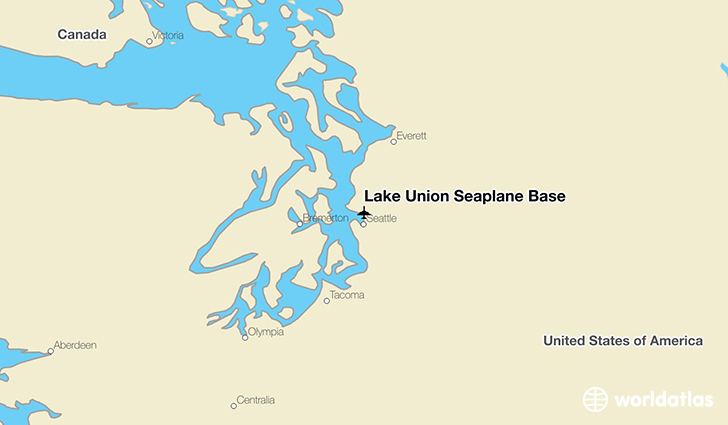 Lake Union Seaplane Base location on a map