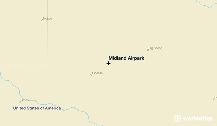 Midland Airpark location on a map