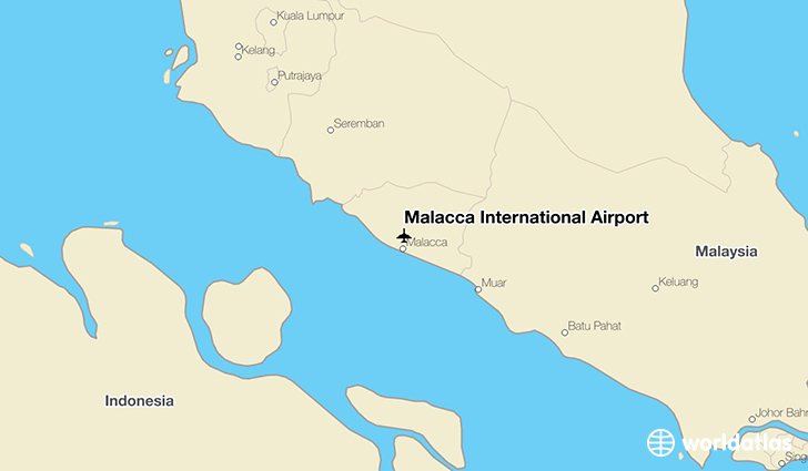 Malacca International Airport location on a map