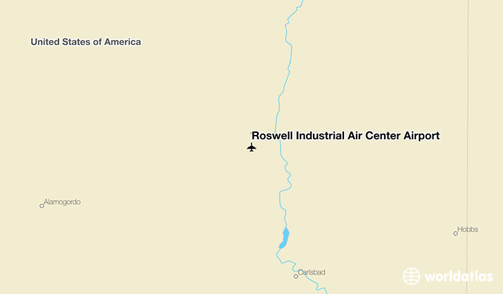 Roswell Industrial Air Center Airport location on a map