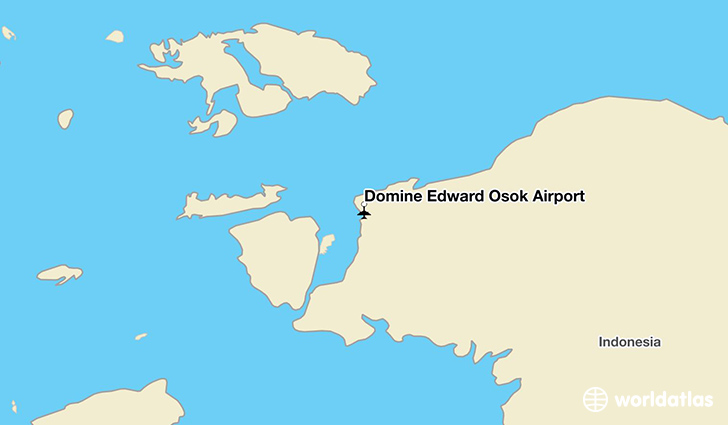 Domine Edward Osok Airport location on a map