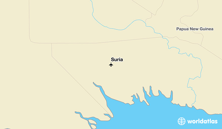 Suria location on a map
