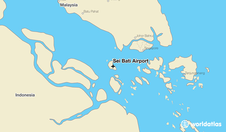 Sei Bati Airport location on a map