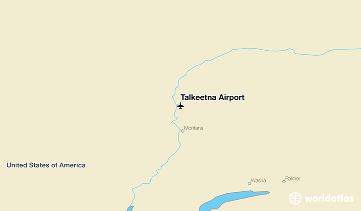 Talkeetna Airport location on a map