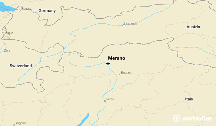 Merano location on a map