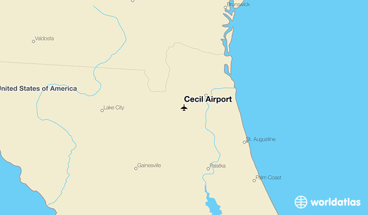 Cecil Airport location on a map