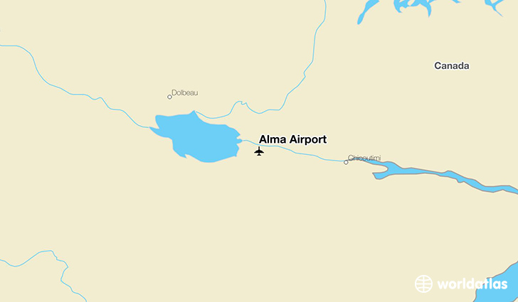 Alma Airport location on a map