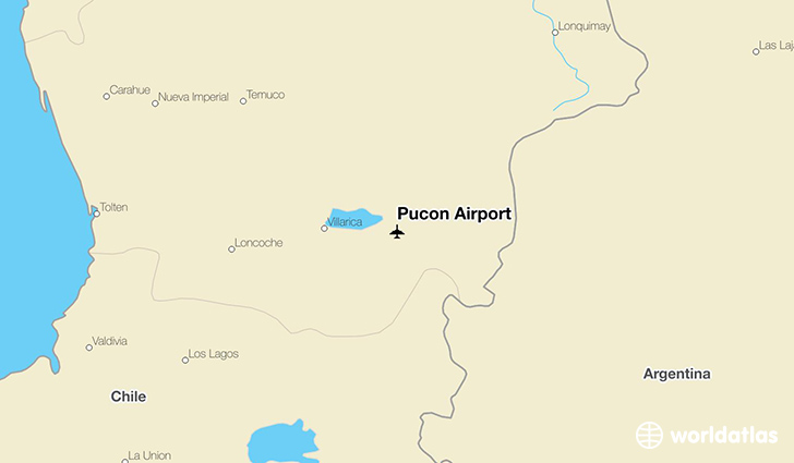 Pucón Airport location on a map