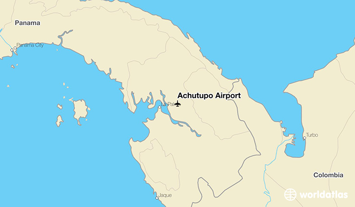 Achutupo Airport location on a map
