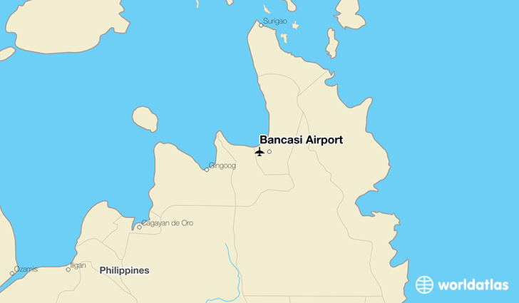 Bancasi Airport location on a map