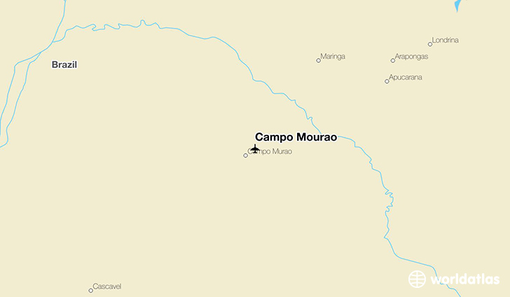 Campo Mourao location on a map
