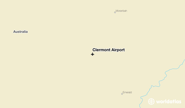 Clermont Airport location on a map