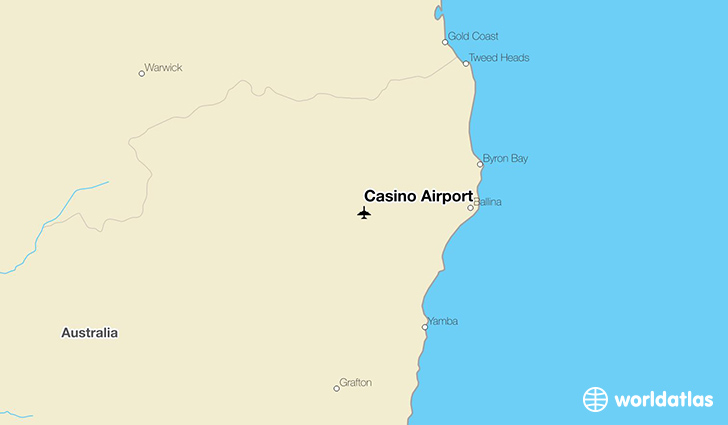 Casino Airport location on a map