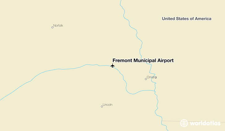 Fremont Municipal Airport location on a map