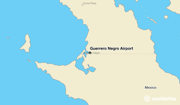 Guerrero Negro Airport location on a map