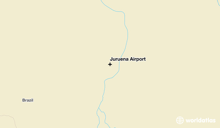 Juruena Airport location on a map