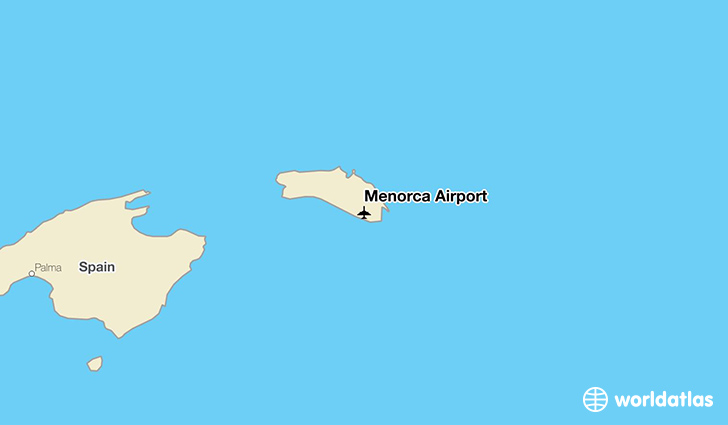 Menorca Airport location on a map