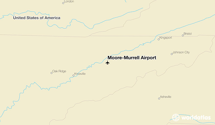 Moore-Murrell Airport location on a map