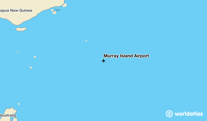 Murray Island Airport location on a map