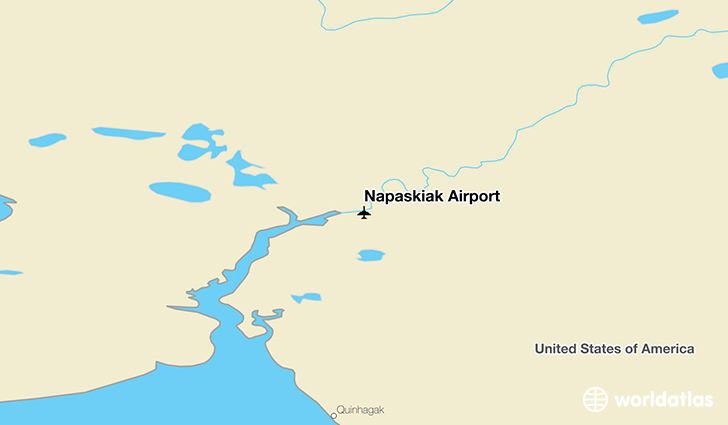 Napaskiak Airport location on a map