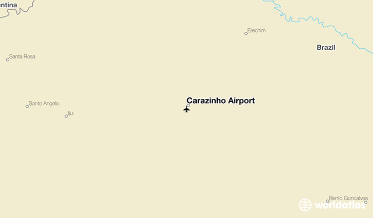 Carazinho Airport location on a map