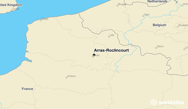 Arras-Roclincourt location on a map