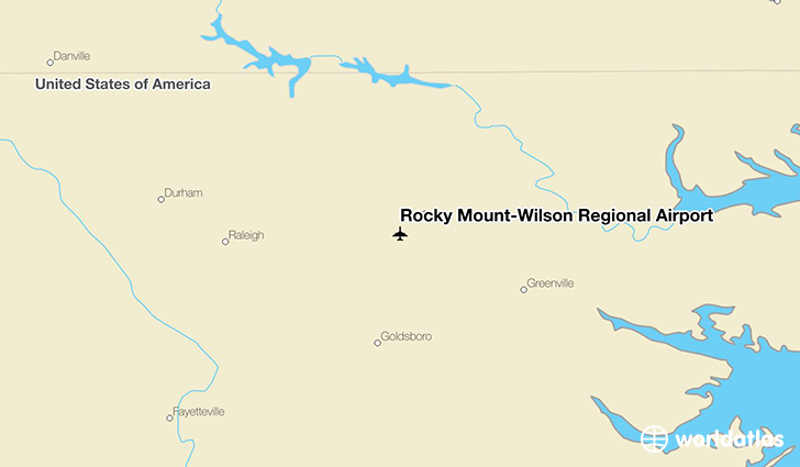 Rocky Mount-Wilson Regional Airport location on a map