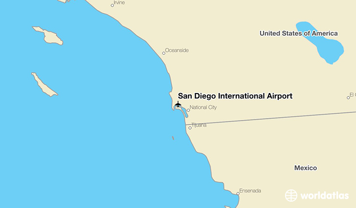 San Diego International Airport (Code IATA: SAN) in ...