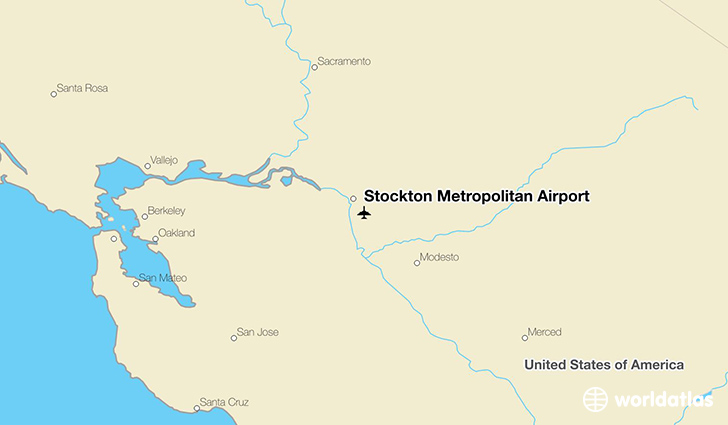 Stockton Metropolitan Airport location on a map