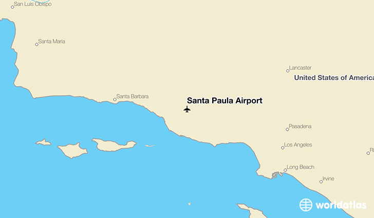 Santa Paula Airport location on a map