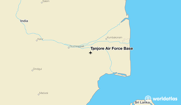 Tanjore Air Force Base location on a map