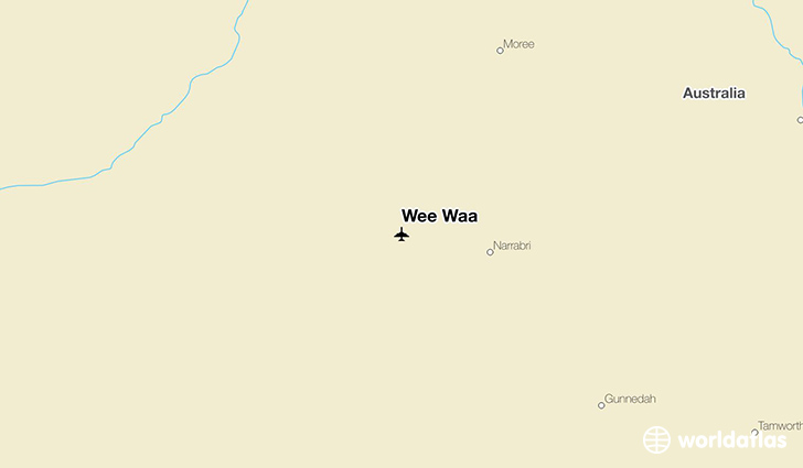 Wee Waa location on a map
