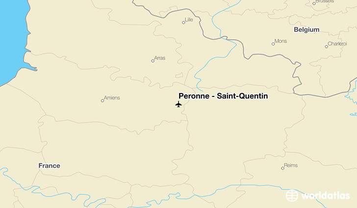 Péronne - Saint-Quentin location on a map