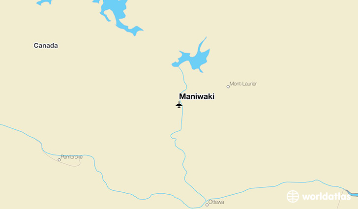Maniwaki location on a map